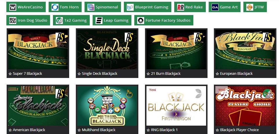 klasbahis casino blackjack oyunları